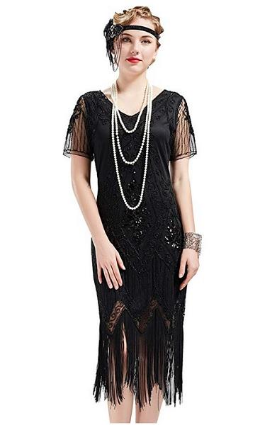 20er Jahre Kleid Charleston Kostüm Damen