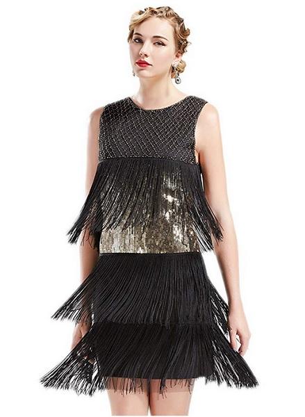 20er Jahre Kleid Flapper Style Charleston Kleid Kostüm Damen